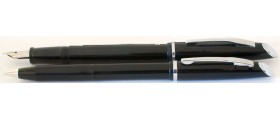 ME221 Platignum Fountain Pen and Ballpoint Set, boxed.  (Fine)