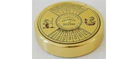 MS545 Brass 50-Year Calendar/Paperweight, boxed