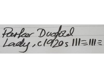 PA2476 Parker Lucky Curve Duofold Lady (Soft Medium)