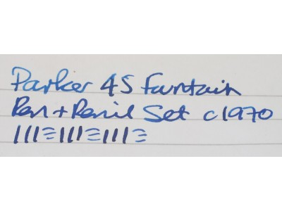 PA2491 Parker 45 CT Fountain Pen and Pencil Set. (Medium)