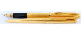 PA2574 Parker 75 Perlé Fountain Pen and Ballpoint Set, boxed (Fine)