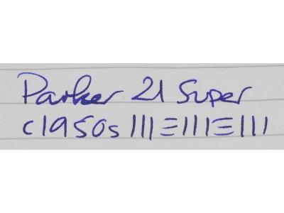PA2649 Parker 21 Super.  (Fine)