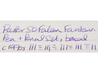 PA2761 Parker 50 Falcon Fountain Pen and Pencil Set, boxed. (Medium)