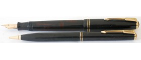 PA2857 Parker Vacumatic Junior Fountain Pen and Pencil Set.  (Medium)