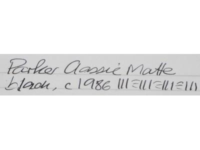 PA2911 Parker Classic Matte Black, GT.  (Fine)