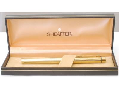 SH1533 Targa by Sheaffer No. 1005 Fluted Gold Plate, boxed  (Medium)