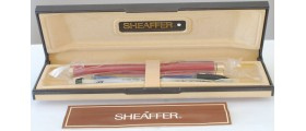 SH1539 Targa by Sheaffer No. 1021 Lacque Imperial Red Fountain Pen and Ballpoint Set, boxed (Fine)