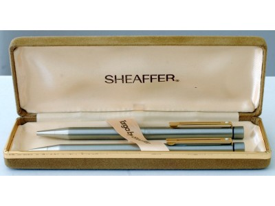 SH1542 Targa by Sheaffger No. 1001X Ballpoint and Pencil Set, boxed.
