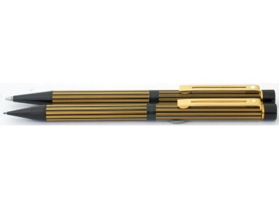 SH1543 Targa by Sheaffer No. 675 Regency Stripe Ballpoint and Pencil Set.