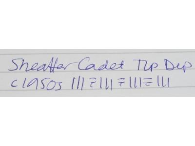 SH1624 Sheaffer Cadet Tip-Dip Touchdown.  (Extra-Fine Needlepoint)