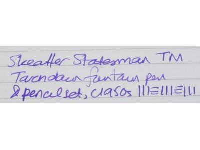 SH1633 Sheaffer Statesman TM Touchdown Fountain Pen and Pencil Set.  (Fine)a