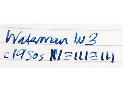 WA607 Waterman's No. W3. (Soft Medium)