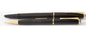 WY075 Wyvern No. 404 Fountain Pen and Pencil Set, boxed.  (Soft Medium)