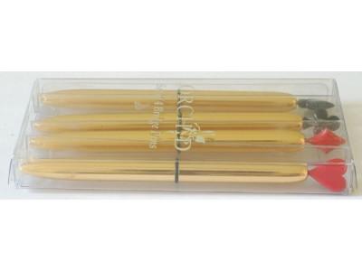 MS669 Set of 4 Orchid Bridge Pens, boxed.