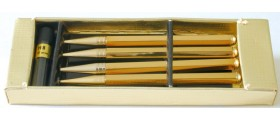 MS670 Set of 4 Leathersmith Games Pencil, boxed.