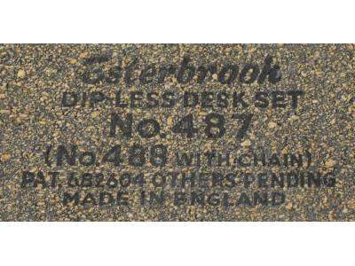 ES361 Esterbrook No. 487 Dip Less Double Desk Set, boxed.  (9556 Fine Nib + 9968 Broad Nib)