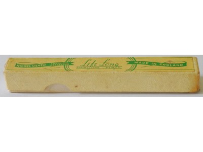 LL075 Life-Long Lady Cubic Nickel Silver Pencil, boxed.