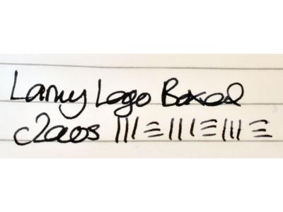 LM039 Lamy Logo, boxed.