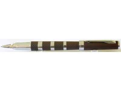 PA2975 Parker Ingenuity Light Brown Rubber and Chrome Trim