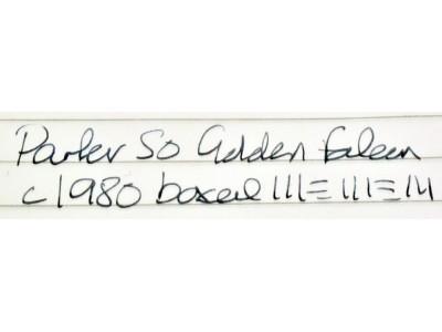PA3120 Parker 50 Golden Falcon, boxed (Extra Fine)