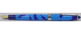 Wality 69A Eyedropper Fountain Pen, Turquoise/Blue
